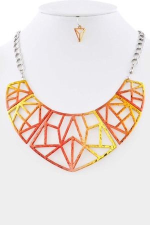 Sunset inspired color scheme bib necklace_3iae6