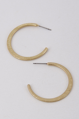 Plain Flat Circle Earrings 9BAD7