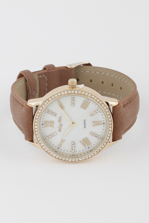 Simply Suede Strap Watch