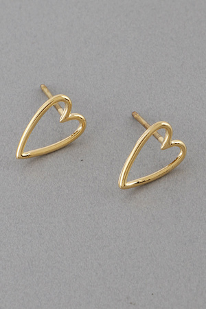 Simply Heart Stud Earrings 9JBA10