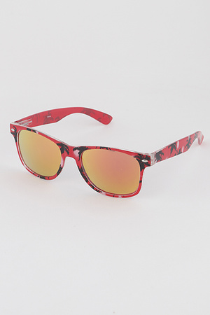 Tropical Mirrored Sunglasses