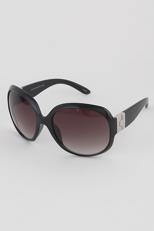 Curved Frame Butterfly Sunglasses