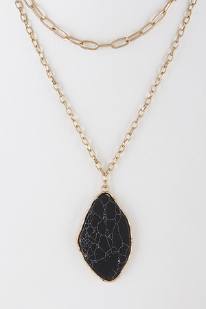 Opulent Stone Layered Necklace 8GBD7