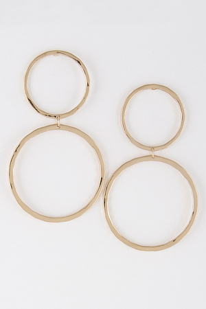 Two Thin Circles Earrings 8CAC4