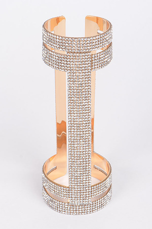 Open Cut Rhinestone Formal Bracelet.