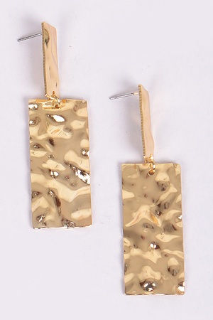 Hammered Rectangle Earring