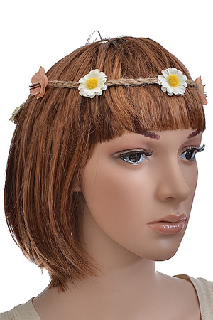 Flower decorated hair band