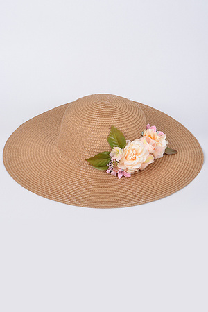 Summer Hat With Flowers