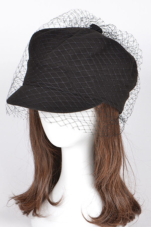 Fashion Cap With Fish Net Detail