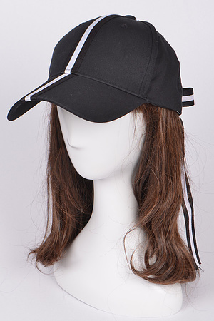 Middle Vertical line Ribbon Back detailed Casual Cap
