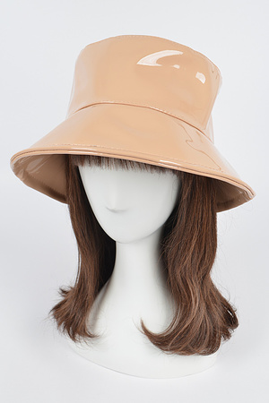 Faux Leather Bucket Hat