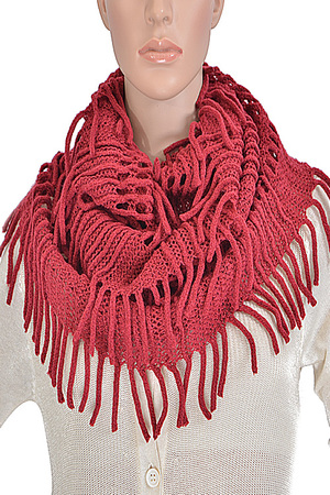 Fringed Detailed Infinity Scarf