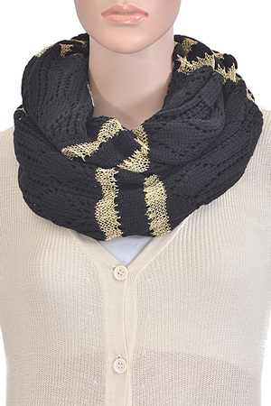 Gold Lined Infinity Scarf