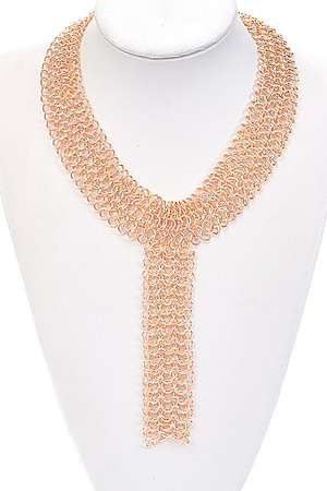 Three Layer Chain Linked Necklace