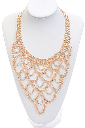 Chain Chandelier Drop Statement Necklace