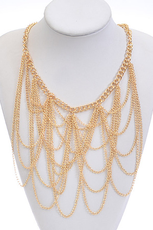 Torso Covered Chain Necklace
