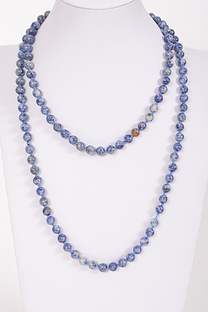 Faux Colored Pearl Beaded Necklace