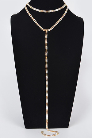 Fashionista Long Choker Necklace.