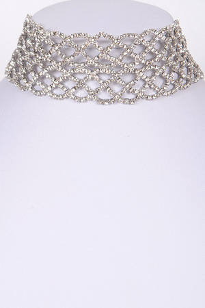 Formal Flashy Choker Necklace