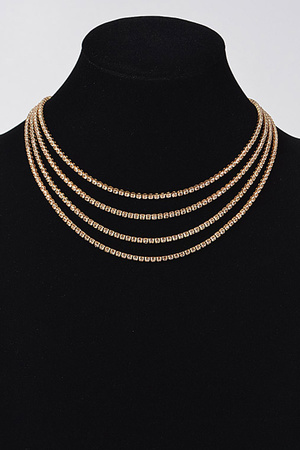 Round Layered Necklace.