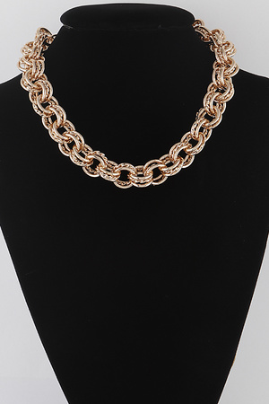 Triple Rings Chain Necklace