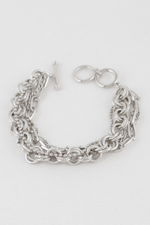 Multi Chain Toggle Bracelet