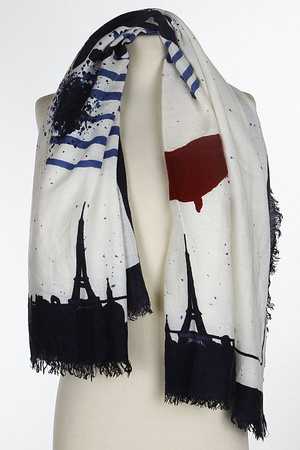 Paris Background Inspired Scarf 7HCA