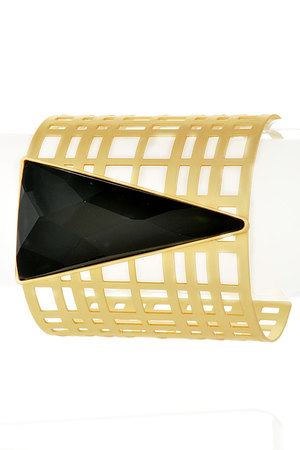 Triangle shape with Gold cut off Bracelets_3GCE5