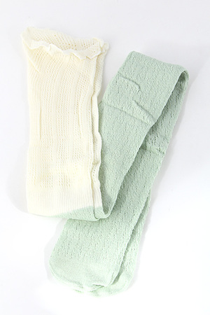 Lace Two Tone Long Socks 4KCFSOCKS1