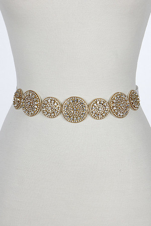 Simple Shiny And Flashy Circle Belt 7CCF