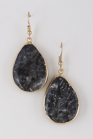 Teardrop Western Stone Pendant Earrings 7IBB10