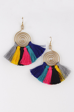 Spiral & Tassel Earrings 8EAD8