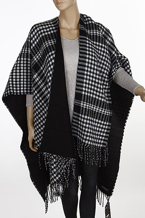 Cozy Checkered Fringed Scarf 6ICG