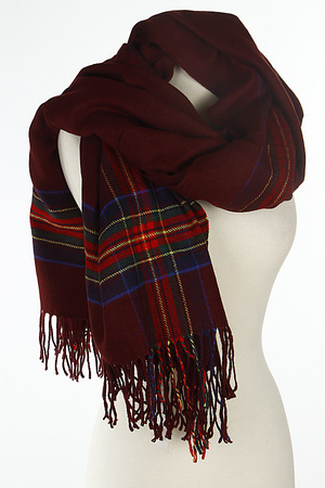 Plaid Line Printed Unique Scarf 7IBA
