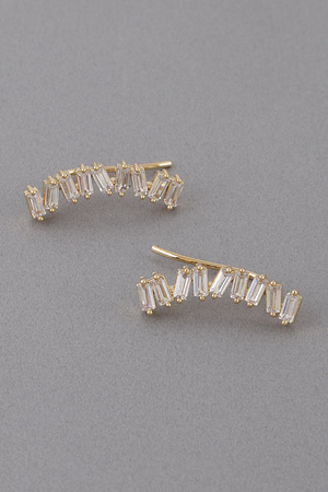 Zigzag Rhinestone Earrings