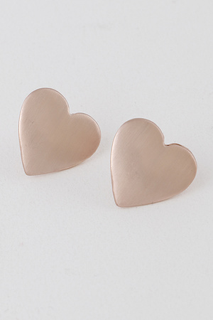 Simple Heart Stud Earrings.