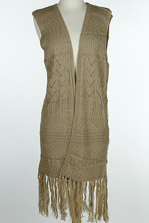 Knitted Inspired Patterned Drop Vest 6HCH