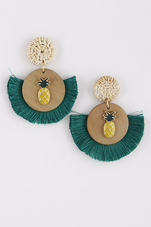 Cute Summer Inspired Earrings With Pineapple Detail 9ABA4
