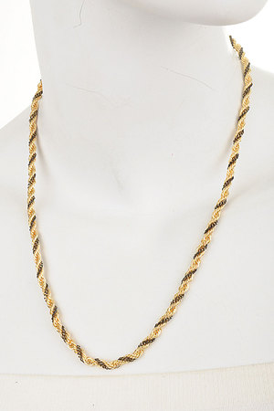 Twisted Colored Chains Necklace-3fba4
