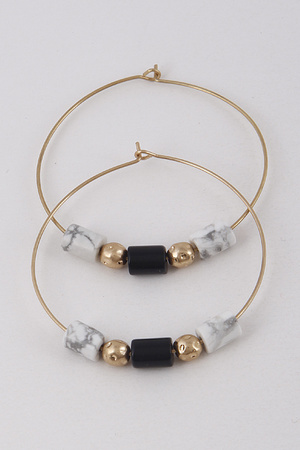 Hoop Earrings With Stones Details 9BAD4