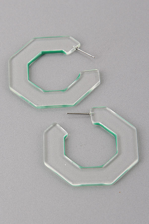 Translucent Hoop Earrings 9DCC6