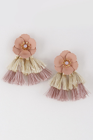 Flower Stud with Tassels 8EAC4