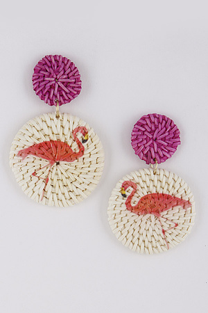 Lovely Flamingo Earrings 9BAB9