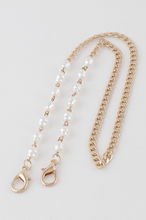 Pearl Chain Mask Strap