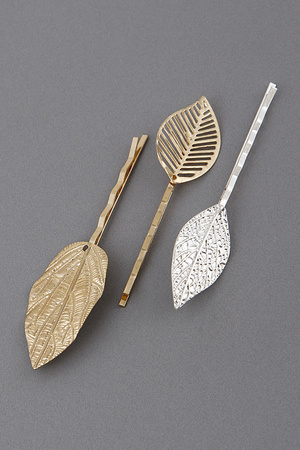 Solid Leaf Hairpin Set 9EBF6