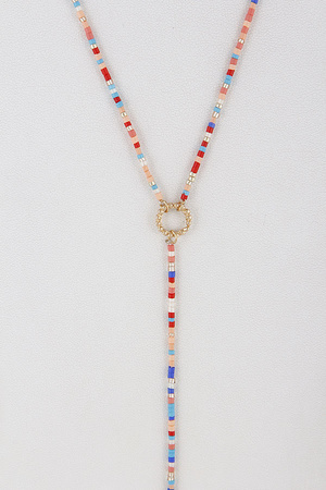 Multi-Beaded Fashion Necklace 9DAC8