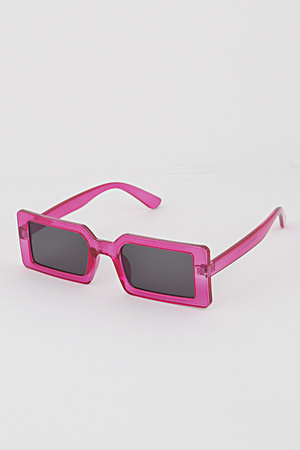 Neon Frame Rectangular Sunglasses