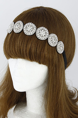 Unique Circle Head Band With Rhinestones 6DCG