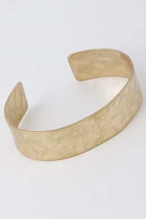 Open Cut Flat Metallic Bracelet 7LAB5
