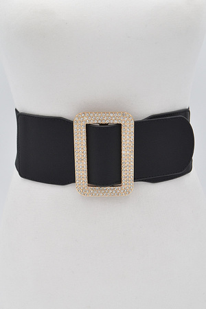 Rhinestone Rectangle Belt